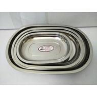 304不鏽鋼橢圓盤 304盤 長盤 烤盤 魚盤 菜盤 水果盤 304(18-8)不鏽鋼橢圓盤(華鈺)一入(126元)