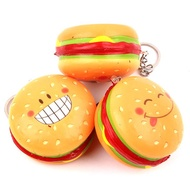 Hamburger Squishy Hanging Ornament Slow Rising Soft Toy Gift Key Ring With Packaging