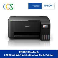 [ READY STOCK ] Epson EcoTank L3250 A4 Wi-Fi All-in-One Ink Tank Printer