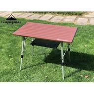 【悠遊戶外】現貨 柯曼 鋁合金蛋捲桌 T580 T560 紅色 Campingmoon柯曼 可加購防水桌巾