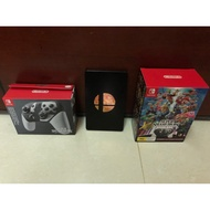 《任天堂明星大亂鬥》限定版同捆 鐵盒特別版+限定款Switch Pro控制器