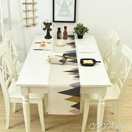 桌巾 棉麻餐桌旗家用床尾巾北歐茶幾桌旗床旗餐桌裝飾布長條布可