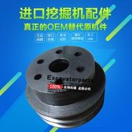 Excavator Hitachi Kobelco Carter 120 4BD1 4BG1 4JB1 engine to small fan water pump pulley