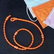 美國 Pro Hair Tie 扣環髮圈 口罩鏈-粉橘色 綁髮神器 不咬髮 碰水不發臭