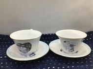 咖啡杯:英國Diana Royal 心形布袋戲玩偶杯組x兩組