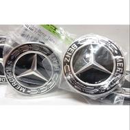 Mercedes Benz 賓士 原廠 鋁圈中心蓋 鋁圈蓋 NEW 黑色款 德國製 原廠圈適用 AMG