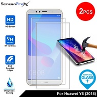 ScreenProx Huawei Y6 (2018) Tempered Glass Screen Protector (2pcs)