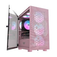 darkFlash DLM21 粉色 (鐵網版) M-ATX 電腦機殼 機箱 (不含風扇)