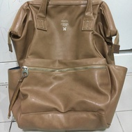 Anello กระเป๋าเป้สะพายหลัง Large Premium Leather Backpack AT-B1511 - Beige