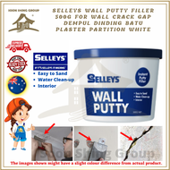 Selleys Wall Putty Filler 500g for Wall Crack Gap Dempul Dinding Batu Plaster Partition White