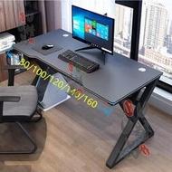 電腦臺式桌科技感輕奢電競桌120x60辦公桌子小戶型寬家用現代書桌