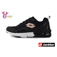 LOTTO樂得 義大利 女款 FLUX 避震氣墊跑鞋 網布運動鞋 慢跑鞋 M8607 黑色 OSOME奧森鞋業