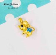 999 Pure Gold Zodiac Pendant - Rat
