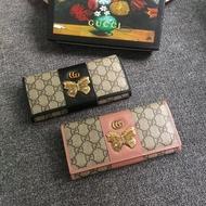 【包】gucci長夾小蜜蜂真皮錢包 古馳卡包 兩折皮夾 A9