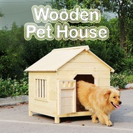⚡HIGH QUALITY⚡ Wooden Pet Dog Cat Big Wood Cage Rabbit Cage Crate House Home / Rumah Haiwan Anjing Kucing Sangkar