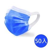【神煥】MIT無痛耳帶成人醫療口罩50入/盒 (未滅菌)深藍色