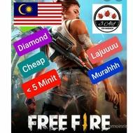 RGSc FF  210 - 1500 (Malaysia) LAJUUU TOPUP DIAMOND GARENA FREE FIRE