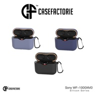 Casefactorie Silicon Case for Sony WF-1000XM3 with Carabiner