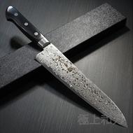日本進口菜刀 堺孝行 高硬度45層大馬士革不鏽鋼 牛刀 7425 7424