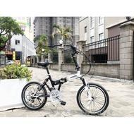 【愛爾蘭自行車】24段變速 前後雙避震 20吋 折疊車 鋁合金輪圈 座椅及把手 高低可調整 IRLAND 徵經銷