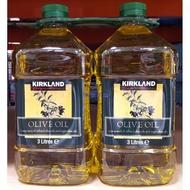 美兒小舖COSTCO好市多代購~KIRKLAND 純橄欖油/初榨橄欖油(3公升x2瓶)