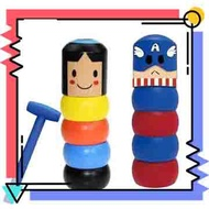 【抖音爆款】打不散的小木人 魔術玩具神奇的打不倒玩偶 有生命的小人打不倒的不屈小人