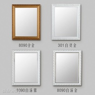 European Style Frame Bathroom Mirror Free Punch Sticker