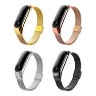 【SHOWHAN】小米手環4米蘭金屬錶帶/腕帶/
