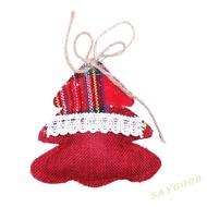 SG Creative Christmas Cotton Linen Hanging Pendant Xmas Tree Party Home Decor