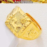 Sailing men's open blessing ring 916 real gold ring