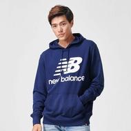 【New Balance】連帽長袖上衣 AMT91547PGM 男性 深藍 美規