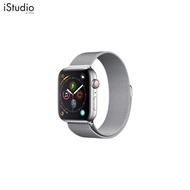 AppleWatch Series4 GPS+Cellular, 44mm Stainless Steel Case with Milanese Loop [iStudio by UFicon]