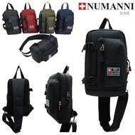 78-504【NUMANNI 奴曼尼】長方型後背氣墊單層單肩背包 (五色)