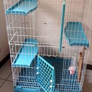 二手~貓籠界的101~新型日式豪華精緻三層貓籠/抽取式底盤