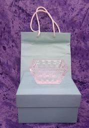 美國頂級珠寶品牌【TIFFANY & Co.】蒂芬妮 方形水晶碗 CRYSTAL BOWL (附TIFFANY原廠包裝