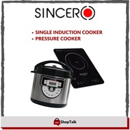 SINCERO 6L Multifunction 8in1 Pressure Cooker & SINCERO Electronic Induction Cooker Package PS