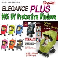 Manito Elegance Plus Stroller Rain Cover Weather Shield/ Baby Stroller / Seebaby Stroller / 99% UV Protective Windows / Baby Swaddle / Baby Cap