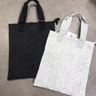 Adidas Issey Miyake Black And White Tote Pack Handbag 3d Geometric Men And Women Shoulder Bag