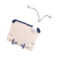 Foldable Music Sheet Holder Book Reading Stand Document Rest with Clip-on Light