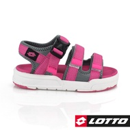 【LOTTO】潮流織帶涼鞋 童 (粉紅-LT8AKS6383)