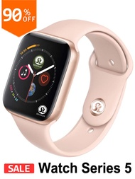 90% Off 42Mm Smart Watch Series 4 Push Messageการเชื่อมต่อBluetoothสำหรับโทรศัพท์Android IOS Apple iPhone 5 7 8 X Smartwatch