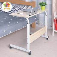 可行動簡易升降筆記本電腦桌床上書桌置地用行動懶人桌床邊電腦桌   青木鋪子