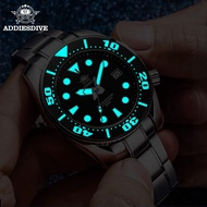 addies watch men's automatic mechanical watch luminous waterproof steel watch
