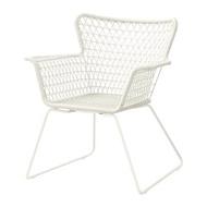 HÖGSTEN 戶外扶手椅, 白色
