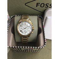 Fossil Watch for men and women  chronograph stainless Gold Strap steel watches