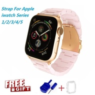 ใหม่บังคับ Apple Watch band สำหรับ Series 5 4 3 2 1 Resin Watch band Apple I Watch Series 5 Series 4 Series 3 Series 2 Series 1 สีสันสดใส