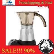 หม้อต้มกาแฟสดแบบไฟฟ้า เครื่องทำกาแฟ มอคค่าพอทไฟฟ้า หม้อต้มชากาแฟ หม้อ Moka pot ไฟฟ้า