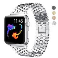 สายนาฬิกาข้อมือสำหรับ Apple Watch 42mm Series 5 4 3 2 เหล็กสแตนเลสสายสำรองสำหรับ iWatch 4 40 มม.44 มม.38 มม. สายคล้อง