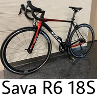 Pm ask SAVA R6 R3000 Road bike 700c Racing road bike Light weight Racing Bicycle with Carbon fork with SHIMANO SORA 18 Speeds