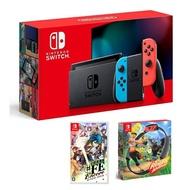 Nintendo Switch 主機 電光紅藍 (電池加強版)+幻影異聞錄 中文版+健身環大冒險 同捆組【再送三禮】 特殊色/不區分